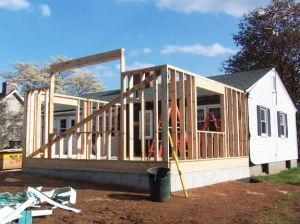Framing the bedroom addition